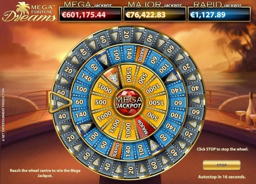 Mega Fortune dreams progressieve jackpot gokkasten
