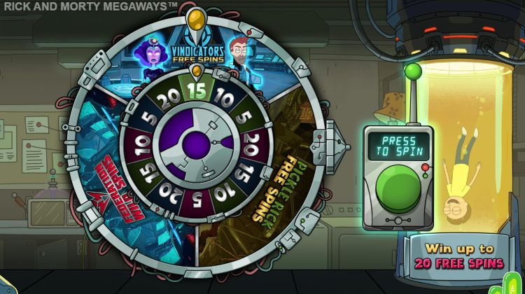 Rick and Morty Megaways bonus wheel