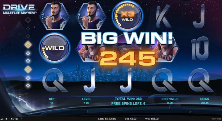 Drive-multiplier-mayhem-netent review win