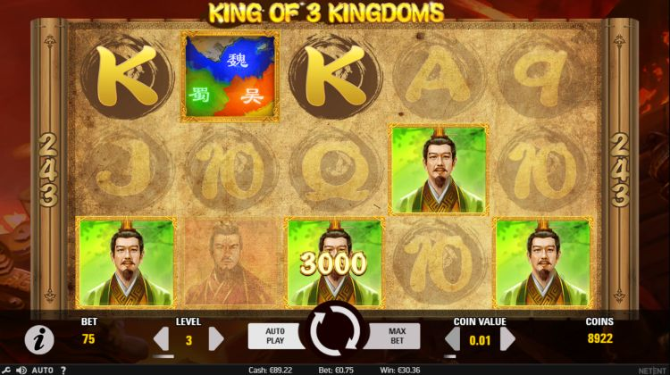 King of KIngdoms slot review netent big win