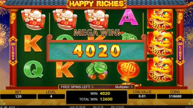 netent_happy-riches-gokkast review mega win