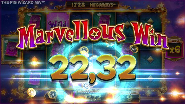 The Pig Wizard megaways slot review big win