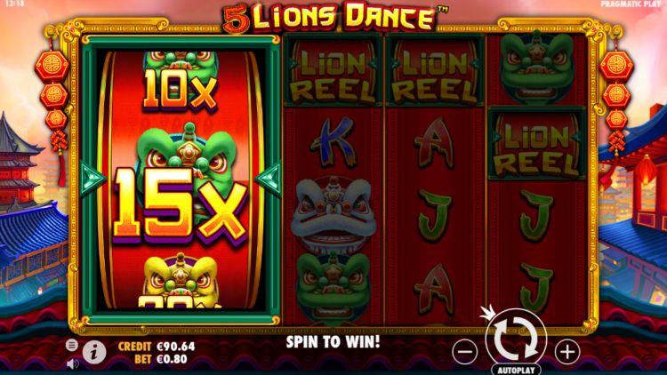 5 lions dance slot feture win