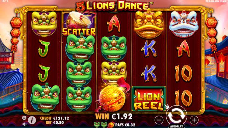 5 lions dance slot review pragmatic play win