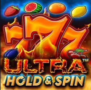 Ultra Hold and Spin slot logo